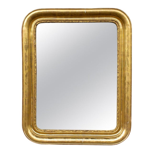 Antique French Gilt Louis Philippe Mirror, Late 19th Century For Sale