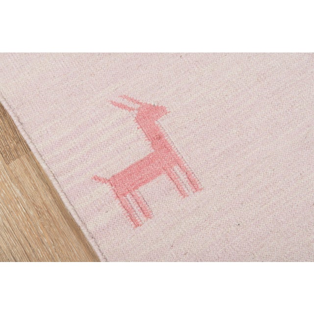 """Contemporary Erin Gates by Momeni Thompson Porter Pink Hand Woven Wool Area Rug - 3'6"""" X 5'6"""" For Sale - Image 3 of 7"""