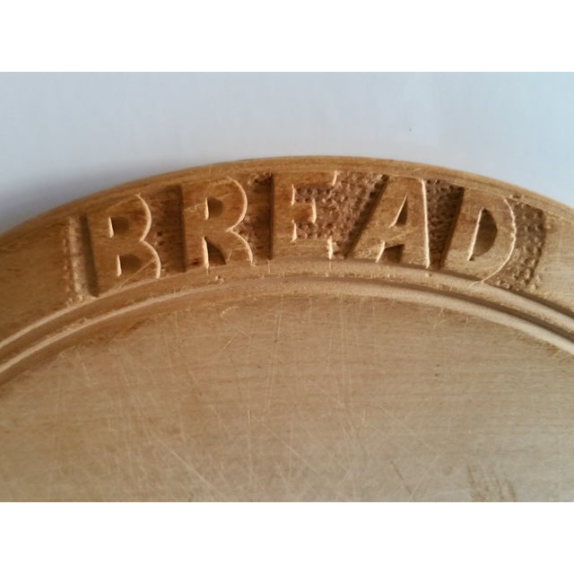 Cottage Antique Sycamore Bread Board For Sale - Image 3 of 4