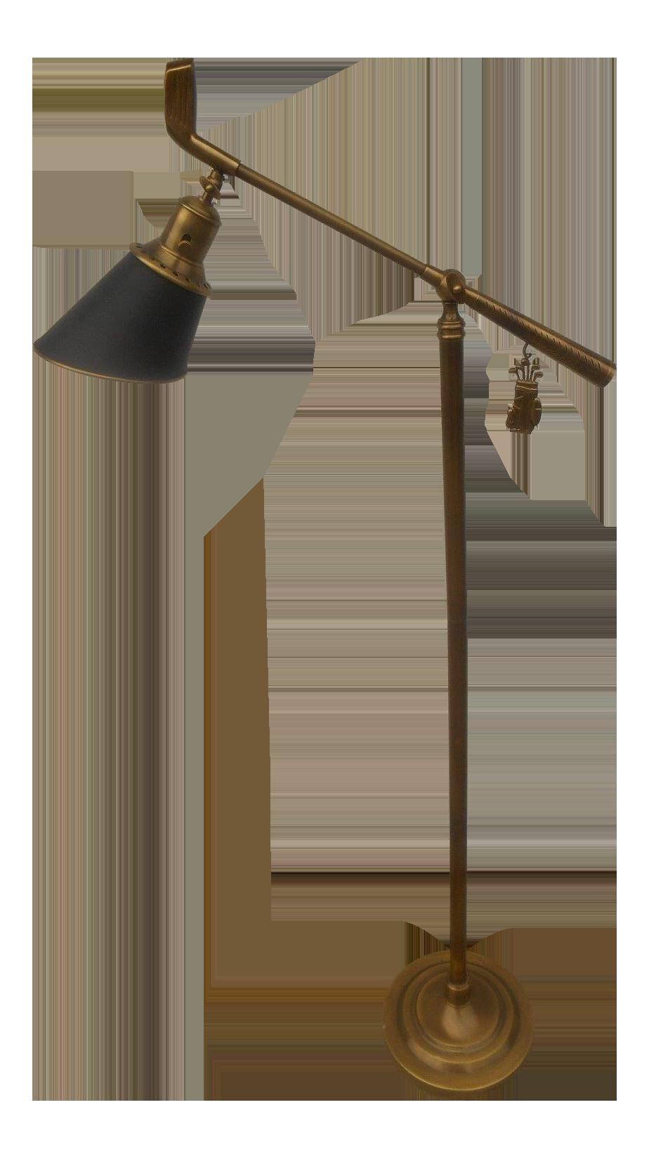 Solid Brass Adjustable Golf Club Floor Lamp