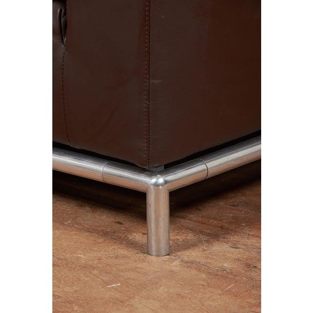 B&B Italia B&B Italia Contemporary Chocolate Brown Leather 'George' Sofa For Sale - Image 4 of 8