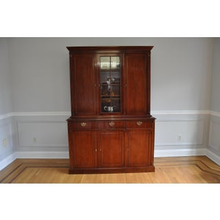 Vintage Artisan Crafted Mohogany Breakfront China Cabinet Preview