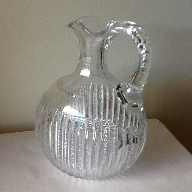 Vintage Etched Crystal Decanter or Pitcher - Image 2 of 11