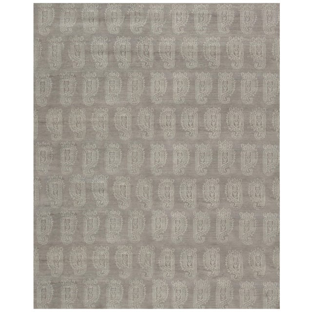 Stark Studio Rugs Contemporary Oriental Bamboo Silk Rug - 12' X 15' For Sale