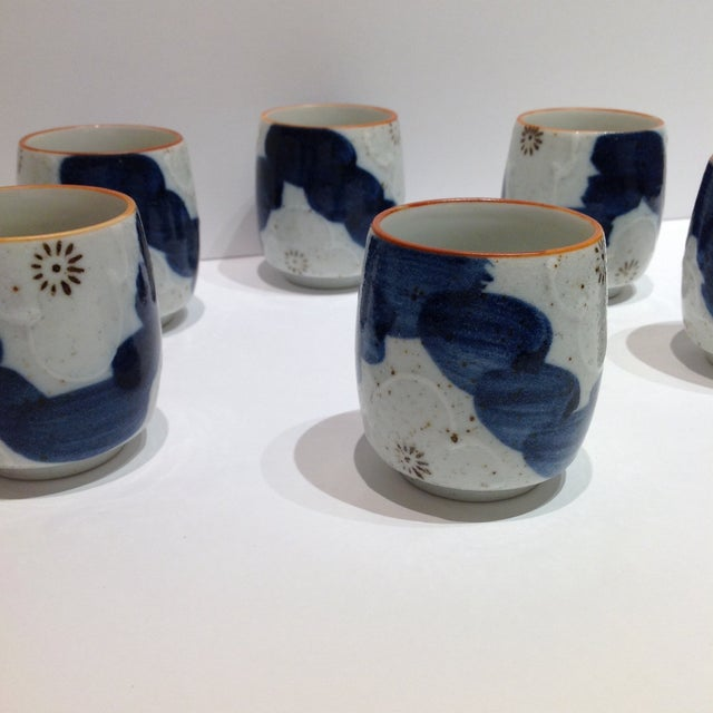 Japanese Painted Tea Cups - Set of 6 - Image 4 of 7