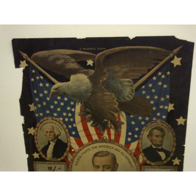 Vintage WWI Presidential Campaign Poster For Sale - Image 4 of 8