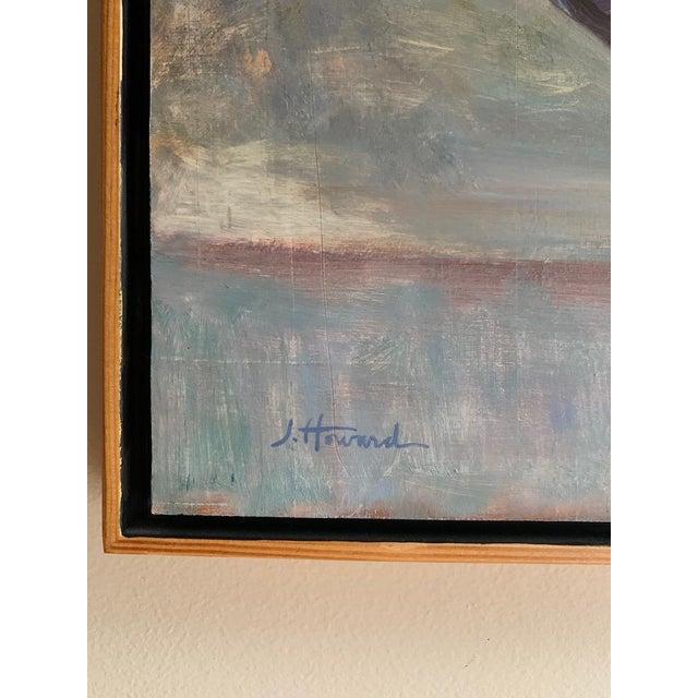 Original Orange Zinnias Oil Painting For Sale - Image 4 of 7