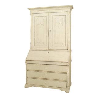 18th Century Continental Gustavian Painted Secretary Desk For Sale