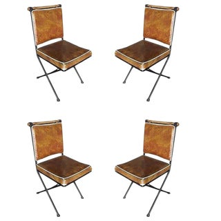 "Set of Four Midcentury ""Directors Chair"" Dining Chairs by Cleo Baldon"