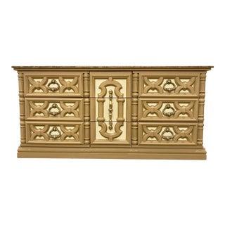 20th Century Mediterranean 9-Drawer Wooden Dresser