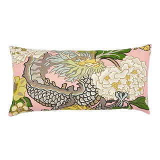 Schumacher Chiang Mai Dragon Pillow in Blush