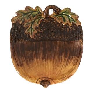 Ceramic Acorn Plate For Sale