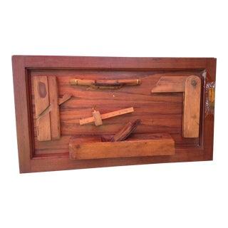 Wood Tool Folk Art Wall Sculpture