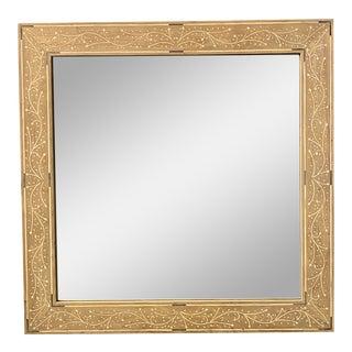 Bone Inlay Square Mirror For Sale