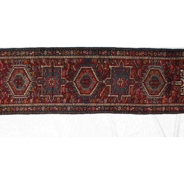 Persian 1950s Leon Banilivi Vintage Persian Heriz Runner - 3′3″ × 11′3″ For Sale - Image 3 of 6