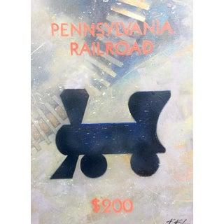 """Pennsylvania Railroad (Railroad 4)"" Original Artwork by Kathleen Keifer For Sale"