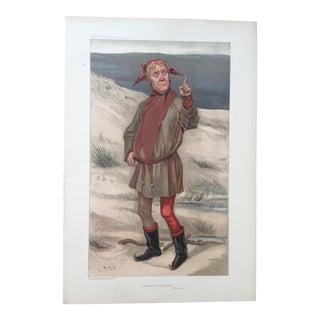 Original 1905 Vanity Fair Theatre Print, Actor Lionel Brough For Sale