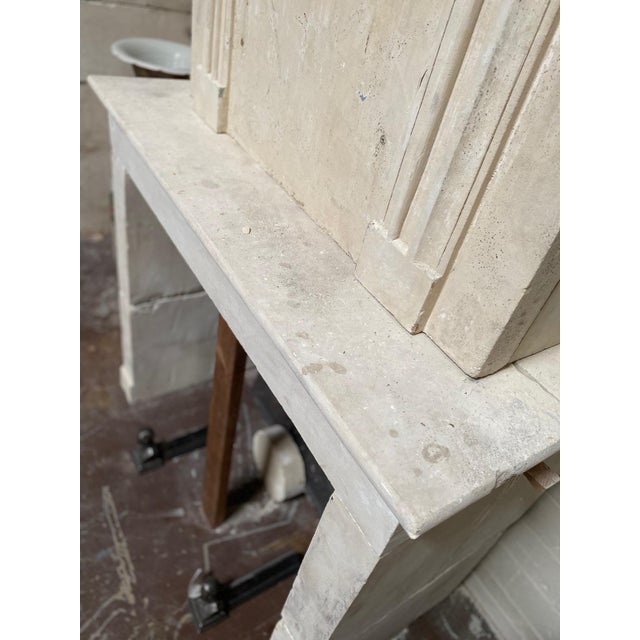 Stone 19th Century Limestone Mantel with Trumeau For Sale - Image 7 of 9
