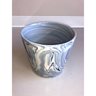 Vintage Medium Tozai Home Terre Melee Blue Cachepot Preview