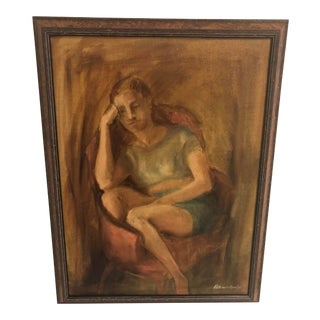Painting of Young Woman by Patricia Ann Lee For Sale