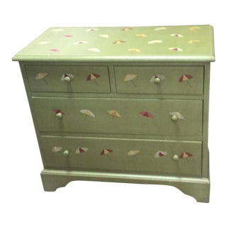 Coastal Hand-Painted Green Dresser