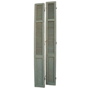 Rustic French Shutters - A Pair For Sale
