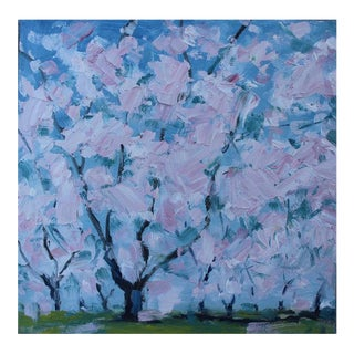 """Cherry Tree Blossoms"" Oil Painting For Sale"