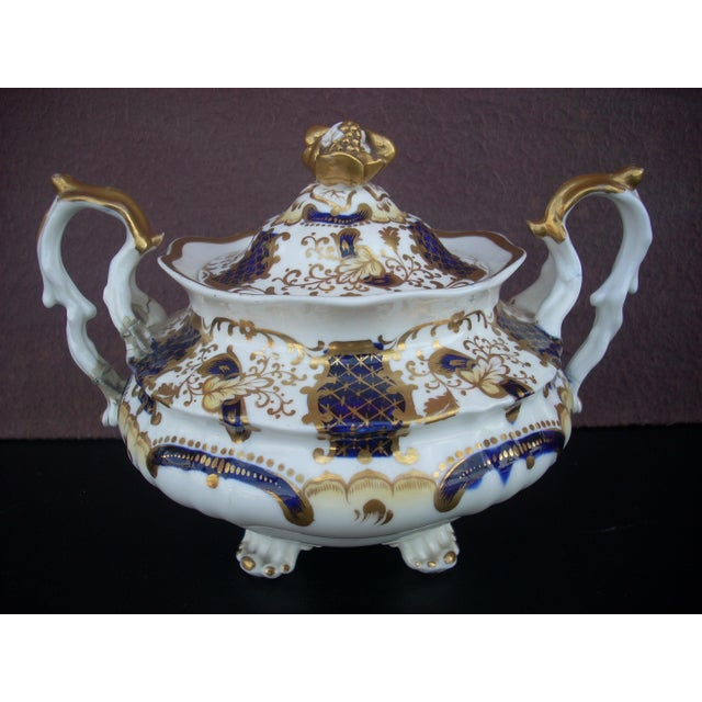 Early 19th Century Early 19th Century Antique Gaudy Welsh Sugar & Creamer For Sale - Image 5 of 8