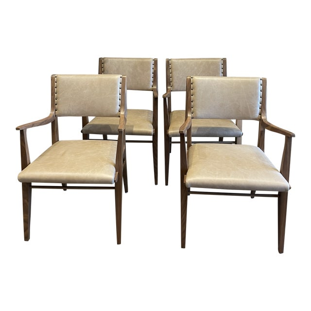 Set of 4 Van Koert Leather Chairs For Sale