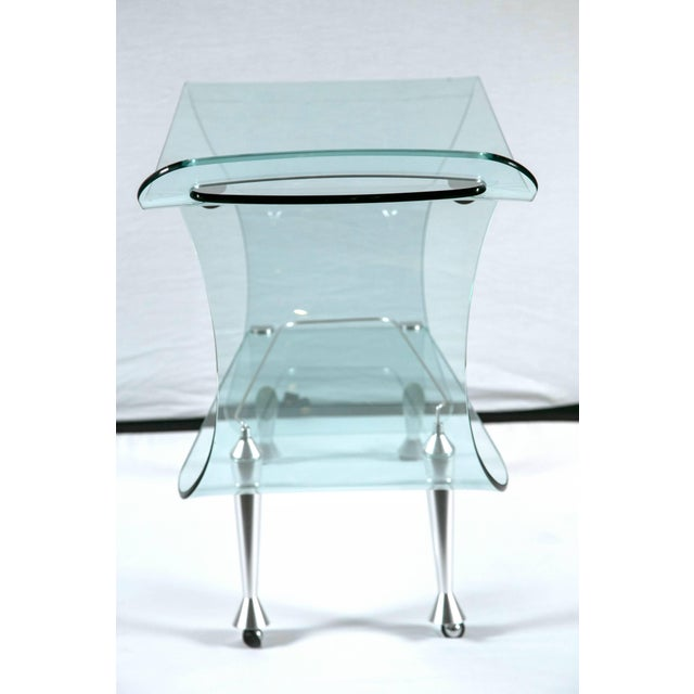 1960s Mid-Century Modern Glass Sculpted Bar by Fiom For Sale - Image 4 of 8