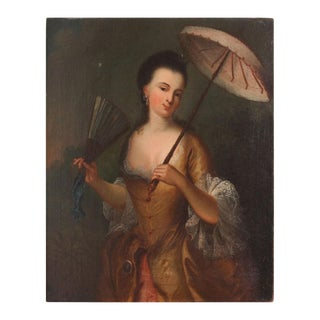18th Century Portrait of a Beauty Painting For Sale