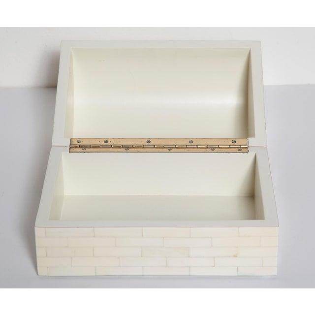 1980s Large Tessellated Bone Box, Circa 1980 For Sale - Image 5 of 13