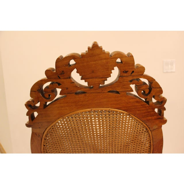 Vintage Carved Accent Chair - Image 9 of 11