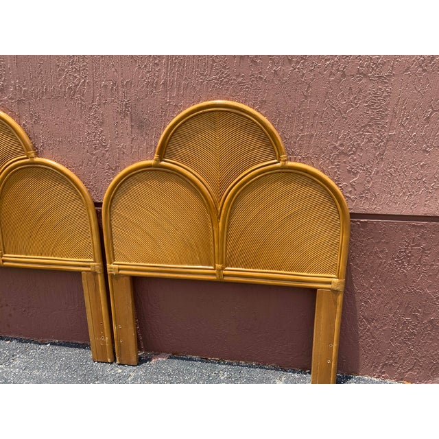 Vintage Pencil Reed Headboards - a Pair For Sale - Image 4 of 13
