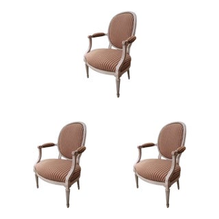 3 Signed Louis XVI Chairs, France XVIIIth Century
