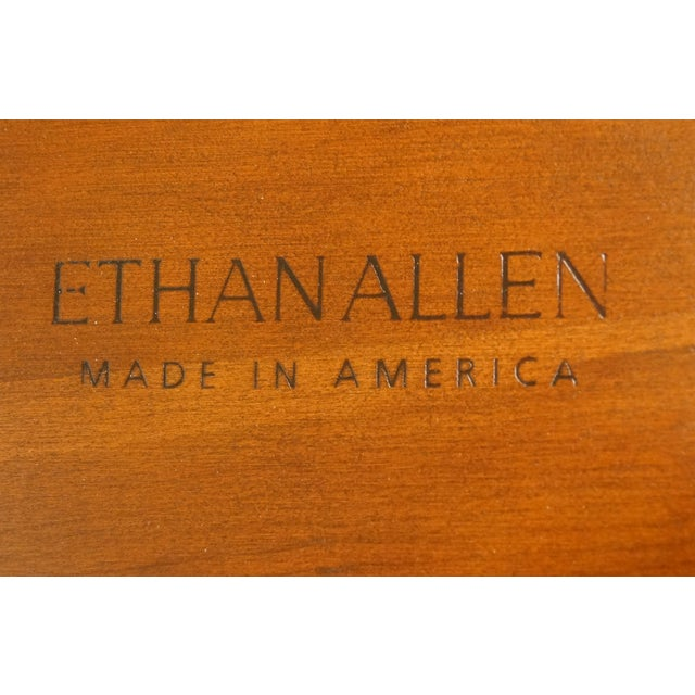 Ethan Allen Georgian Court End Table For Sale - Image 9 of 11