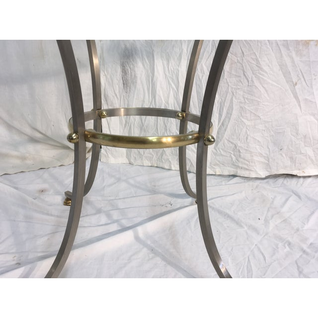Jansen Style Steel & Brass Table For Sale In Atlanta - Image 6 of 9