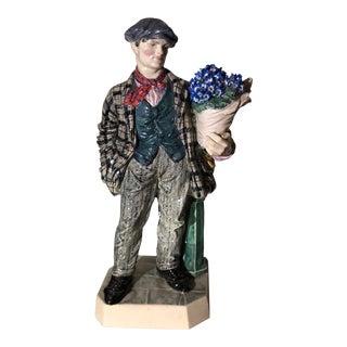 Charles Vyse British Studio Art Pottery Figure of Cineraria Boy, Circa 1925 For Sale