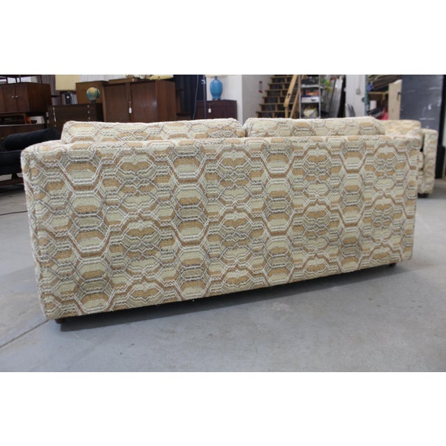 Tan Vintage Mid-Century Modern Lovseat Sofa For Sale - Image 8 of 9