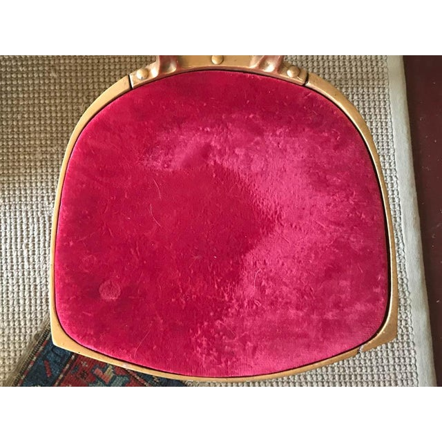 Vintage Hollywood Regency Gilt Metal Chair For Sale In New York - Image 6 of 10