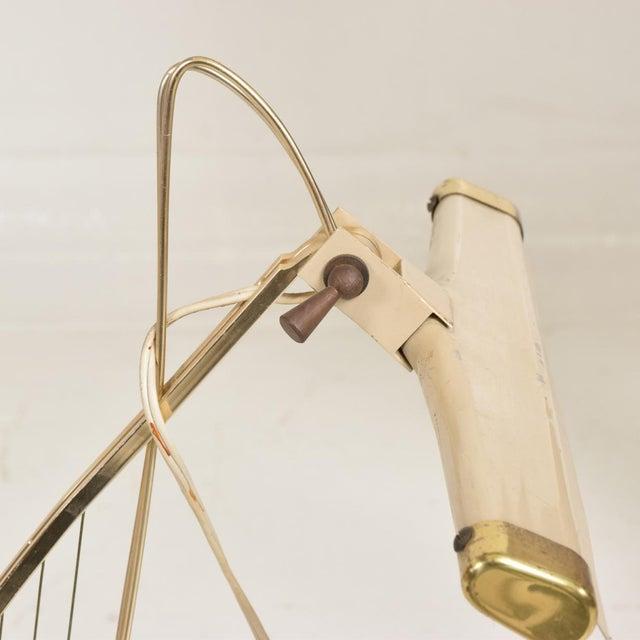 Gold Mid-Century Modern Sculptural Harp Shape Table / Desk Lamp For Sale - Image 8 of 10