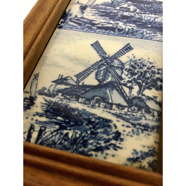 1960 English Traditional Cigar Boxes With Delftware Tile & Glass -a Pair For Sale - Image 12 of 13