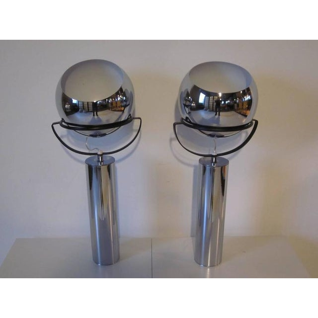 Chrome Robert Sonneman Adjustable Ball Table Lamps - a pair For Sale - Image 7 of 7