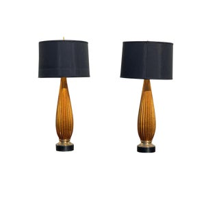 Mid-Century Modern Murano Lamps - a Pair For Sale