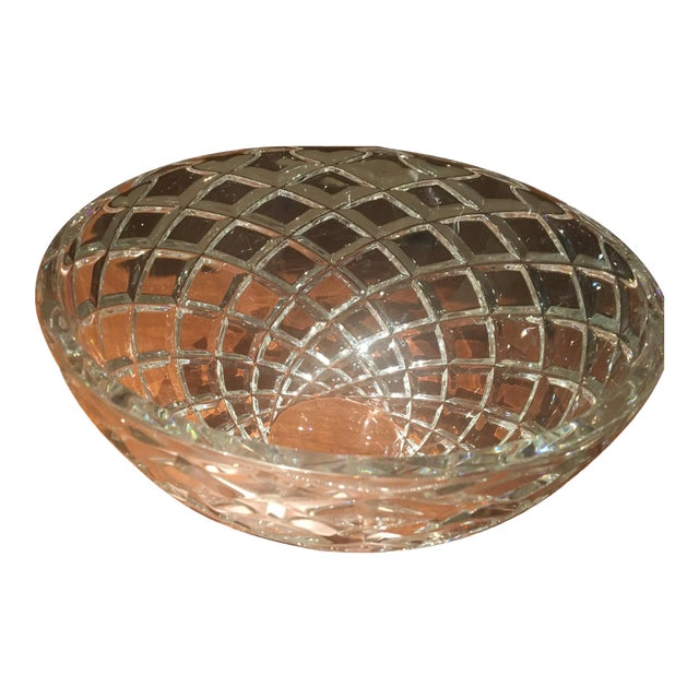 Tiffany Diamond-Cut Crystal Bowl For Sale