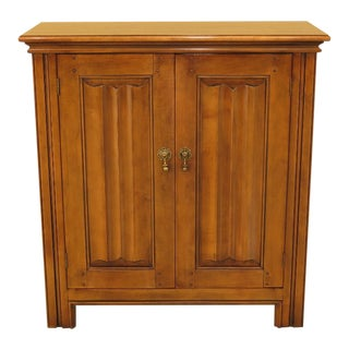 Baker Tudor Style 2 Door Flip Top Bar Cabinet For Sale