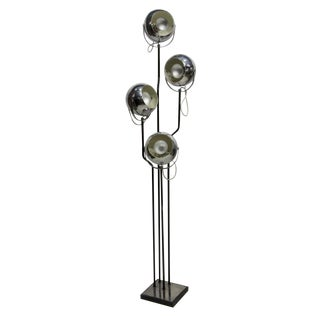 Goffredo Reggiani Chrome Four Light Floor Lamp For Sale