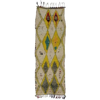 20th Century Boho Chic Moroccan Berber Runner For Sale