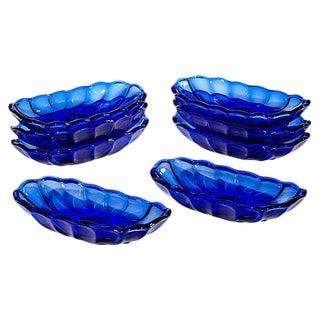 Cobalt Glass Serving Bowls - Set of 8 For Sale