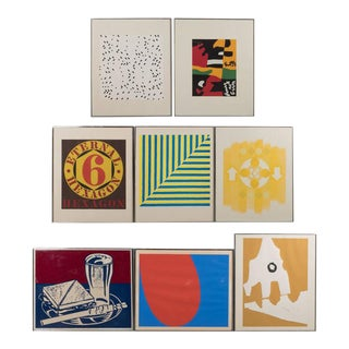 Portfolio of Prints by 8 Important American Artists- Lichtenstein, Stella, etc.
